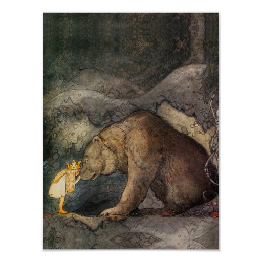 Bear Kiss Poster