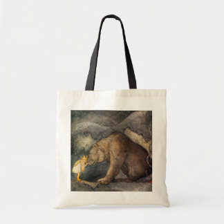 Bear Kiss Tote Bag