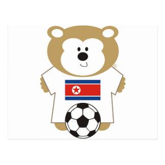 BEAR KOREA DPR POSTCARD