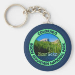 Bear Lake, Rocky Mountain National, Colorado Basic Round Button Key Ring