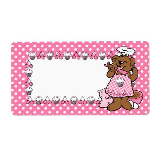 Bear Little Baker Label Shipping Label