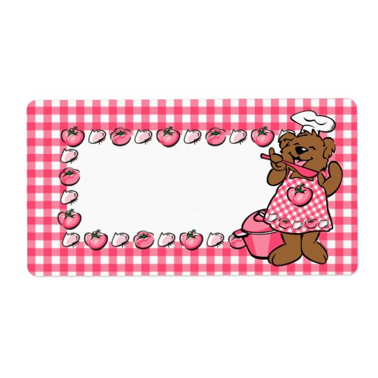 Bear Little Chef Label Shipping Label
