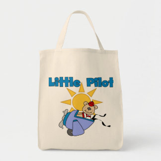 Bear Little Pilot T-shirts and Gifts Tote Bags