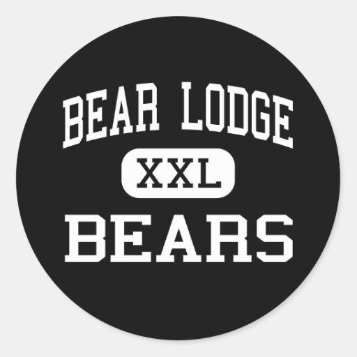 Bear Lodge - Bears - High - Sundance Wyoming Round Sticker