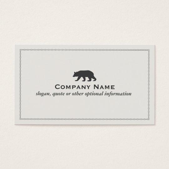Bear Logo Business Card