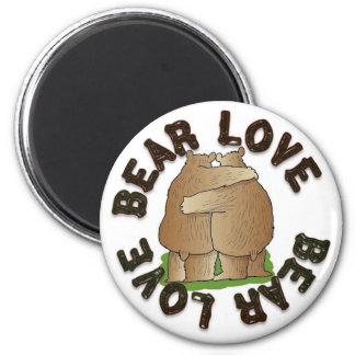 Bear Love 6 Cm Round Magnet