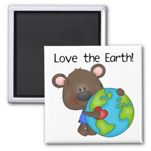 Bear Love the Earth Refrigerator Magnet