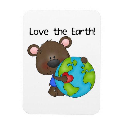 Bear Love the Earth Magnets
