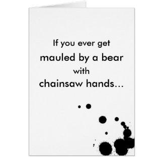 Bear Mauling Romance Card