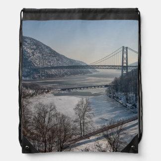 Bear Mountain Bridge Drawstring Bag