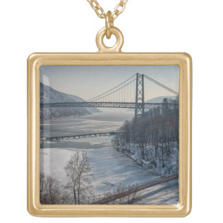 Bear Mountain Bridge Gold Plated Necklace