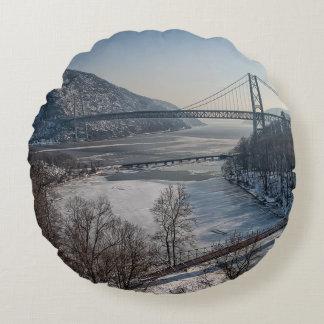 Bear Mountain Bridge Round Cushion