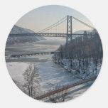 Bear Mountain Bridge Round Sticker