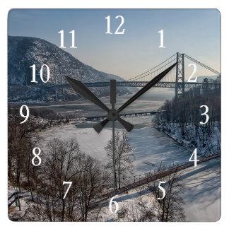 Bear Mountain Bridge Square Wall Clock