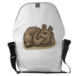 Bear Napping Messenger Bag