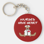 Bear Nurses Have Heart T-shirts and Gifts Key Chain