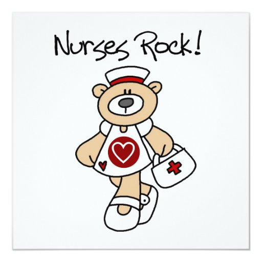 Bear Nurses Rock T-shirts and Gifts Personalized Announcement