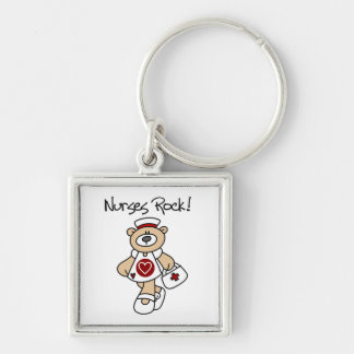Bear Nurses Rock T-shirts and Gifts Keychain