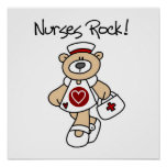 Bear Nurses Rock T-shirts and Gifts Poster