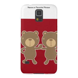 Bear on plain preppy red background samsung galaxy nexus case