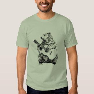 Bear on the guitar t-shirt