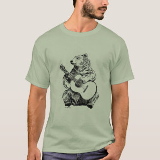Bear on the guitar T-Shirt