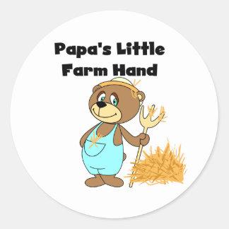 Bear Papa's Little Farm Hand Round Sticker