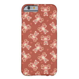 bear patchwork pattern barely there iPhone 6 case