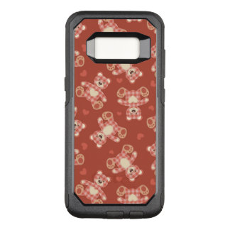 bear patchwork pattern OtterBox commuter samsung galaxy s8 case
