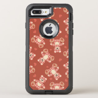 bear patchwork pattern OtterBox defender iPhone 7 plus case