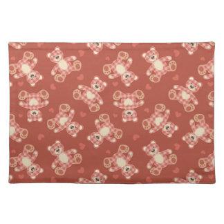 bear patchwork pattern placemat