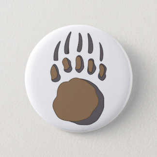 BEAR PAW 6 CM ROUND BADGE