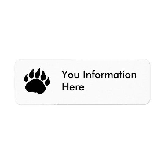 Bear Paw Address Label