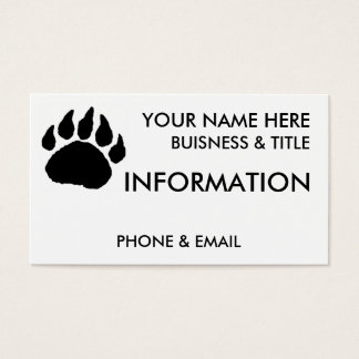 Bear Paw Buisness Cards