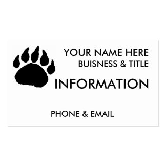 Bear Paw Buisness Cards Pack Of Standard Business Cards