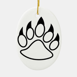 Bear Paw Christmas Ornament