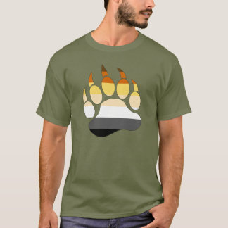 Bear Paw Gay bear pride Flag T-Shirt