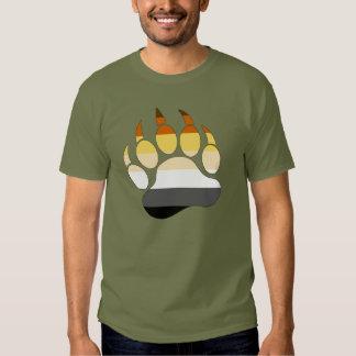 Bear Paw Gay bear pride Flag Tshirt