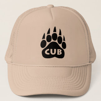 "Bear Paw Gay Pride Hat ""Cub"" Text"