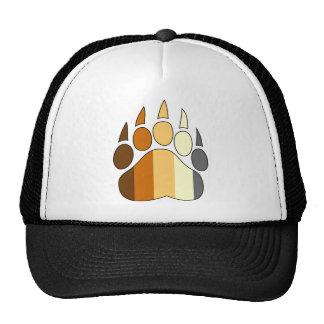 Bear Paw Gay Pride Hat Flag Colors Mesh Hats