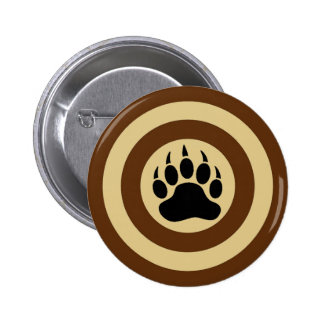 Bear Paw in Super Hero Shield 6 Cm Round Badge