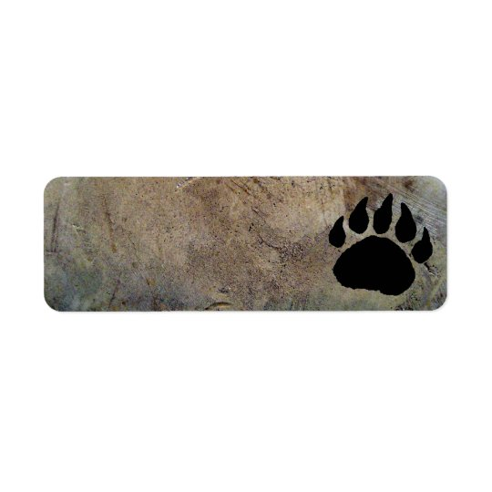 BEAR PAW PRINT ADDRESS LABELS