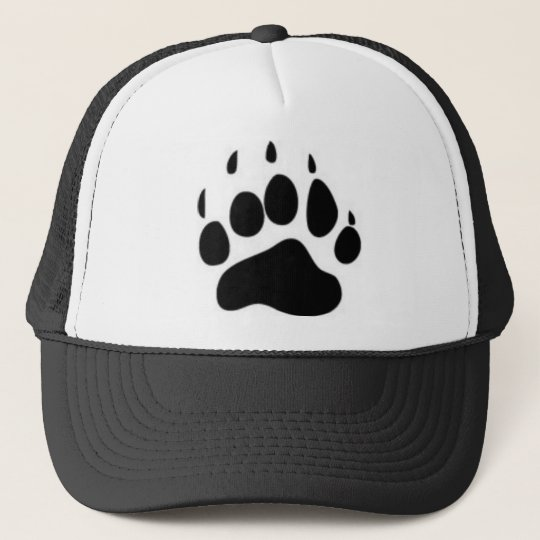 Bear Paw Print Trucker Hat