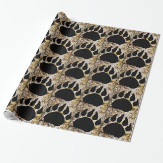 BEAR PAW PRINT WRAPPING PAPER