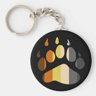 Bear Paw Stripe Keychain