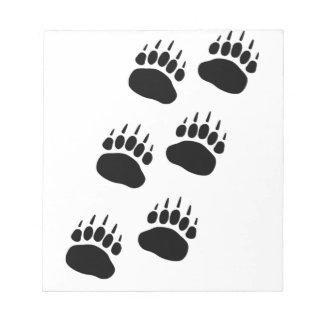 Bear Paw Track Notepad