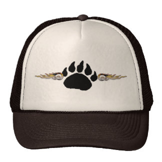 Bear Paw with Flames Cap
