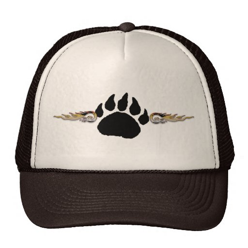Bear Paw with Flames Hat