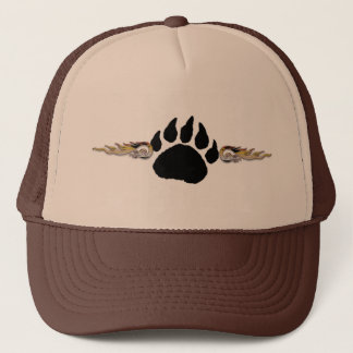 Bear Paw with Flames Trucker Hat