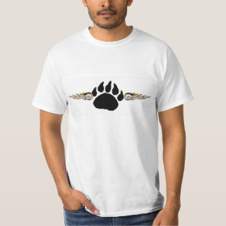 Bear Paw With Flames (Value Tee) T-Shirt